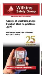 Control of Electromagnetic Fields at Work Regulation 2016