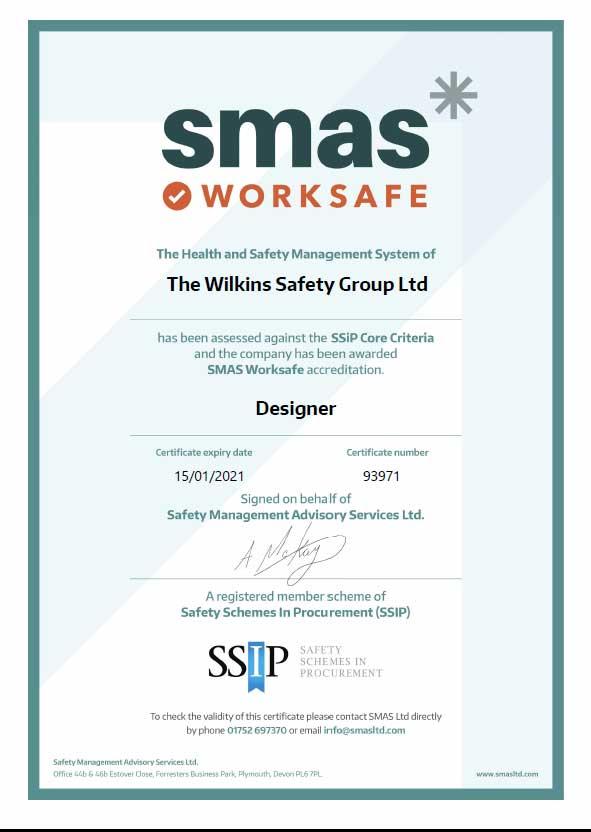 SMAs Designer Certificate
