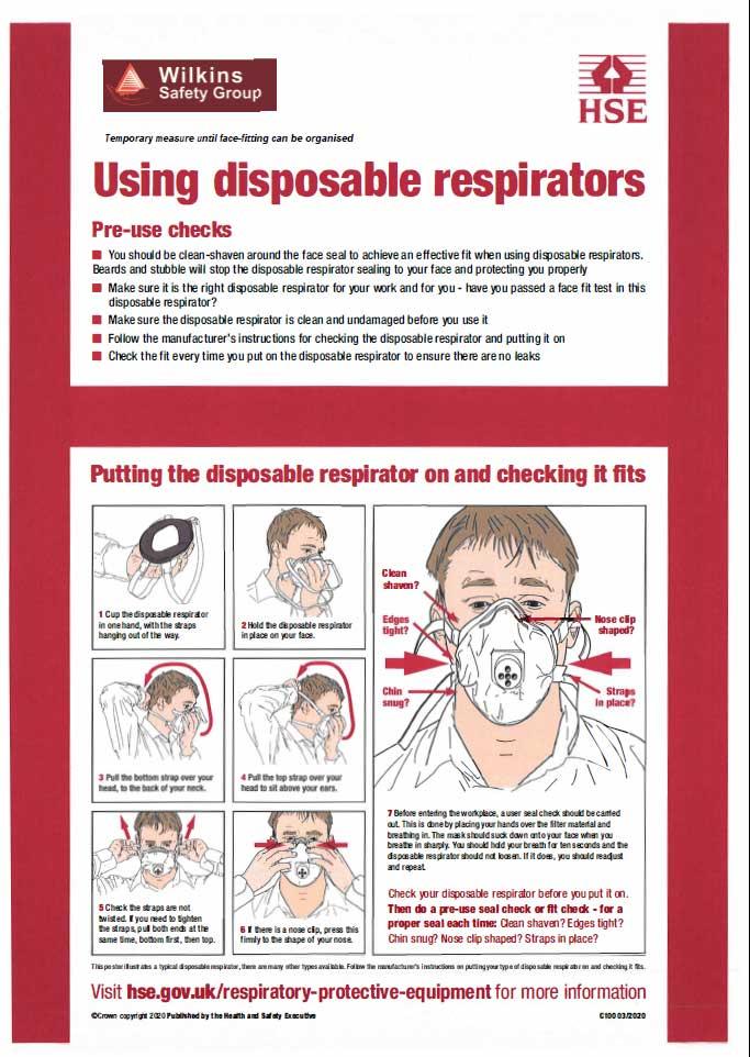 disposable respirator poster