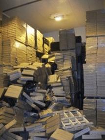 Fallen boxes 1
