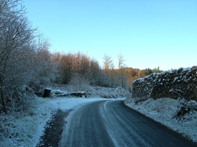 Icey road