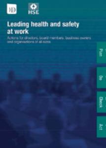 Leading H&S at work leaflet