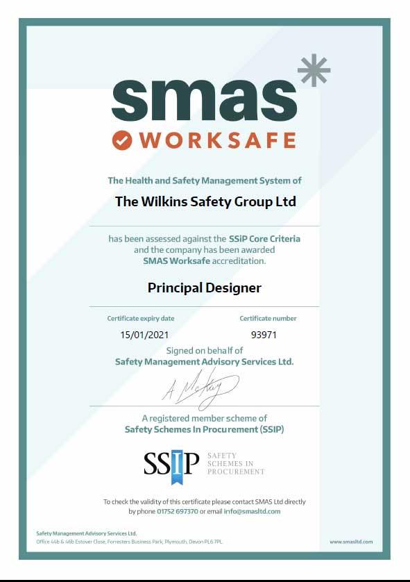 SMAS Principlal Designer certificate