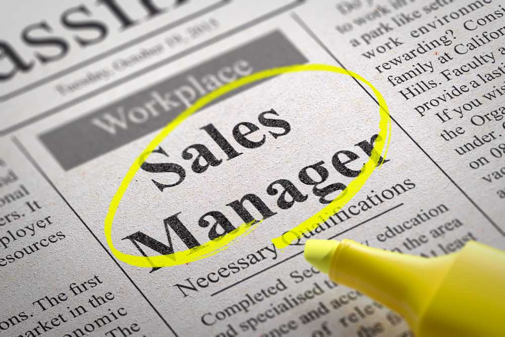 Sales manager vacancy