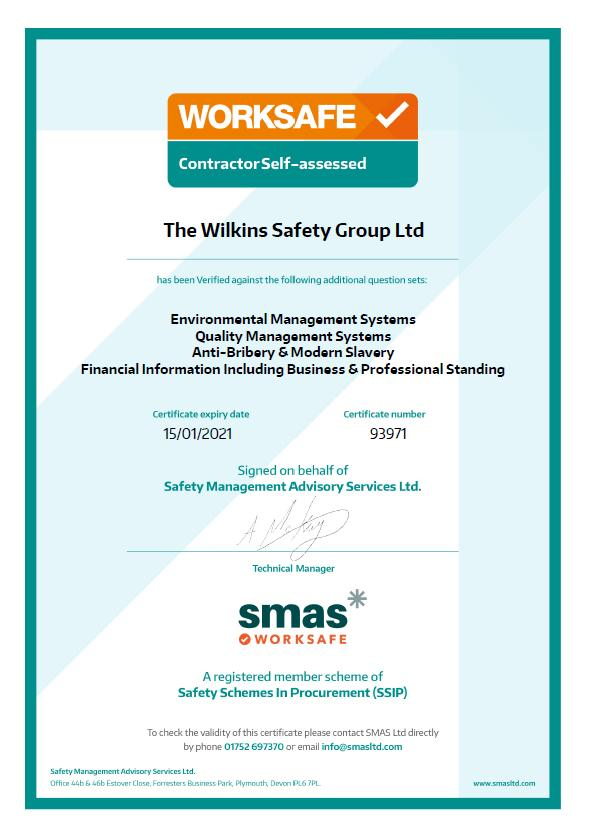 Worksafe Certificate