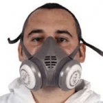 Breathing face mask for face fit testing