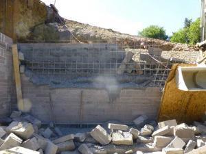 fallen wall