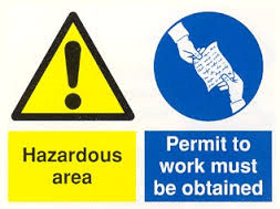 Site signs hazardous area