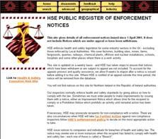 public register of enforcement