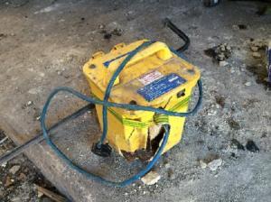 smashed equipment