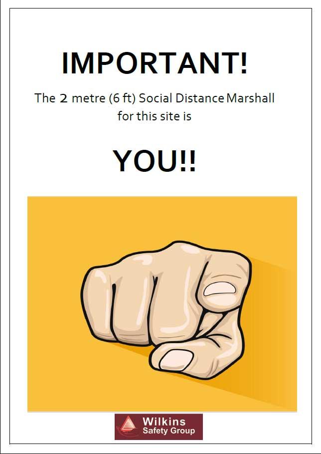 Social distancing marshall poster