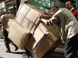 Overloaded stack trucks