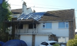 Unsafe removal of asbestos